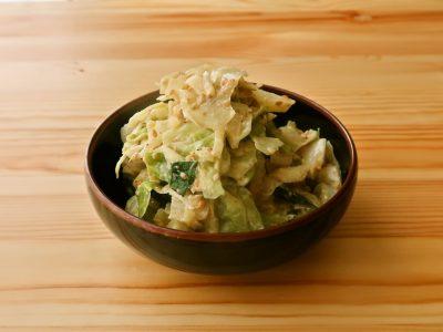 【野菜ひとつ】キャベツのごまマヨ和え