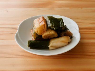 【野菜ひとつ】長ねぎの焼きびたし