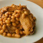 圧力鍋で作る大豆と鶏手羽の煮物