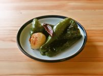 【野菜ひとつ】丸ごとピーマンのオリーブオイル焼き
