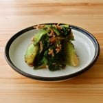 青梗菜と干しエビの和え物