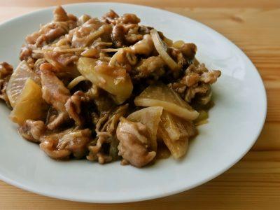 大根と豚こまの炒め煮