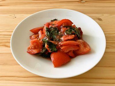 トマトの青じそ梅マリネ