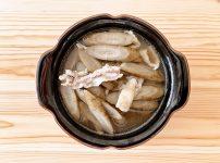 ごぼうと豚こまの和風スープ