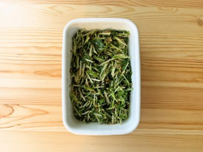 【野菜ひとつ】水菜大量消費サラダ