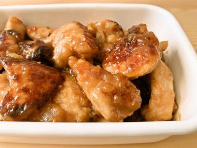 鶏むね肉のオニオンソース焼き