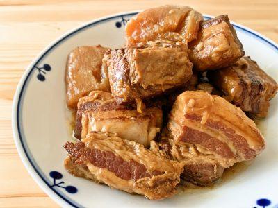 圧力鍋で作る 豚バラ大根のオイスターソース煮
