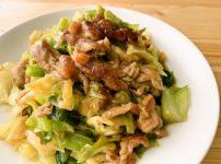 キャベツと豚こまの生姜炒め