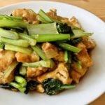 小松菜と厚揚げのあまから醤油炒め
