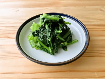【野菜ひとつ】小松菜の辛子和え