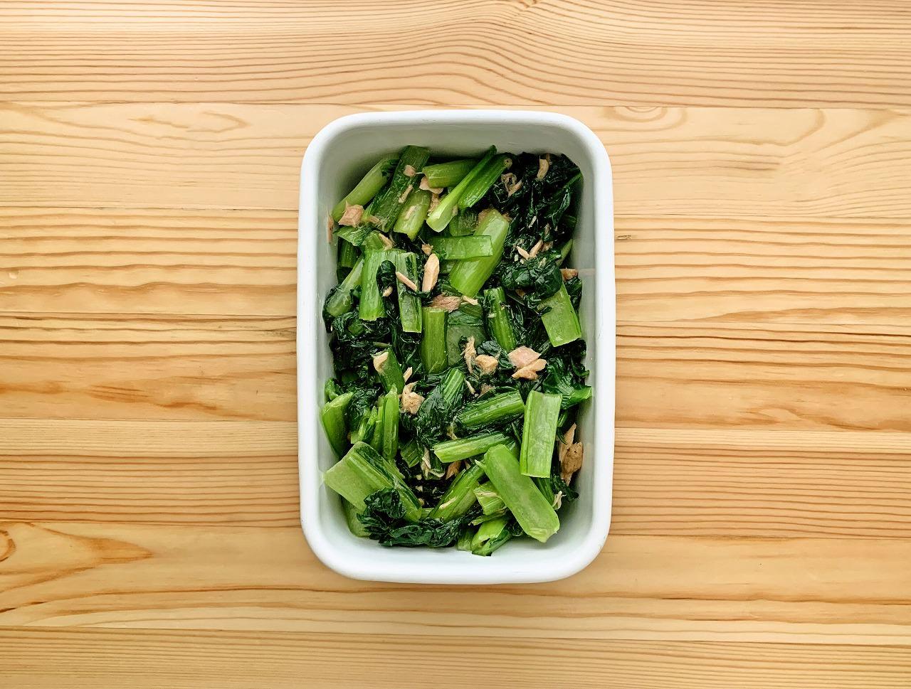 小松菜のツナマリネ