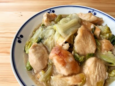 レタスと鶏むね肉の旨塩炒め