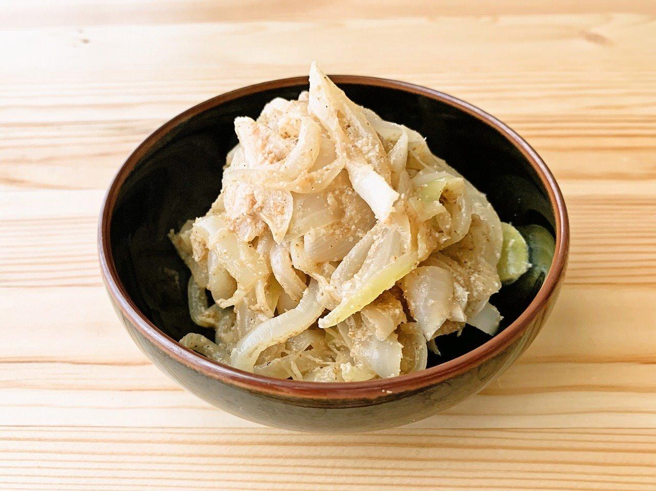 【野菜ひとつ】玉ねぎのごま酢和え