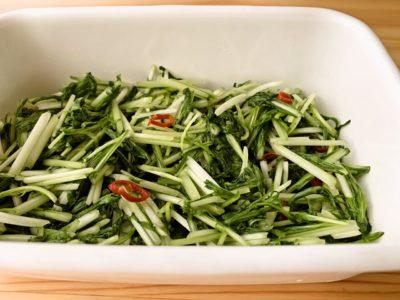 【野菜ひとつ】水菜のアジアンサラダ