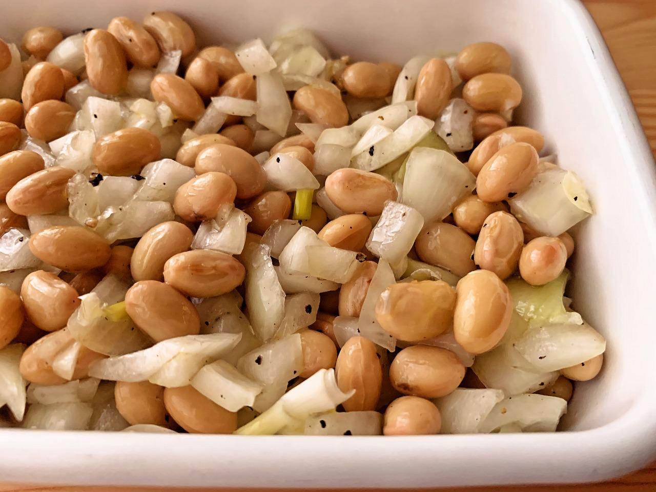 大豆と玉ねぎのマリネ