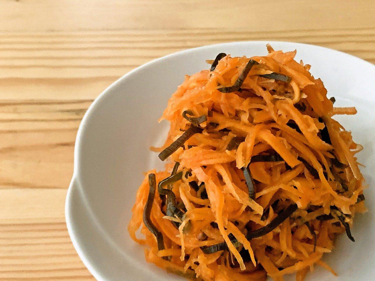 【野菜ひとつ】にんじんと塩昆布の酢の物